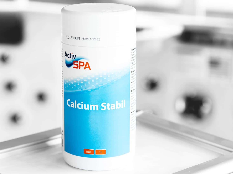 Hardhetsstabiliserende flytende tilsetningsmiddel til spabad, Calcium Stabil, 1 liter