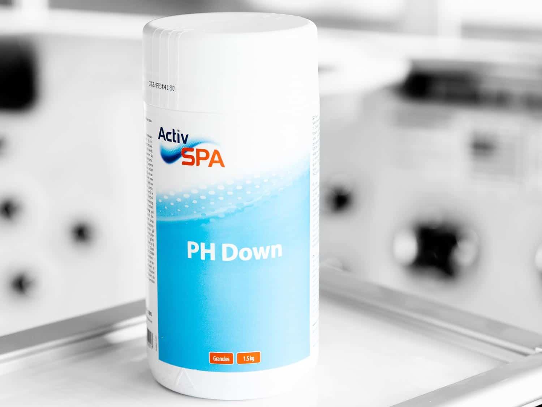 Granulat som senker pH-verdien i badevannet, PH DOWN, 1,5 kg