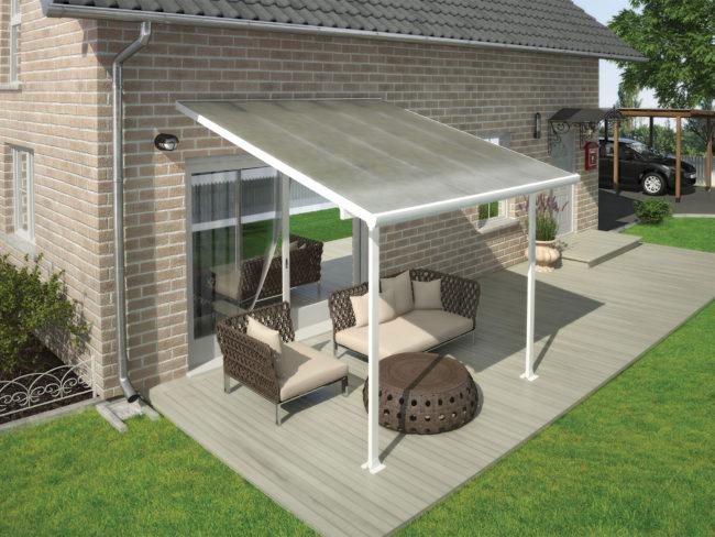 Produktbilde - Terrassetak - 3x3,05 meter - hvit - PALRAM Applications