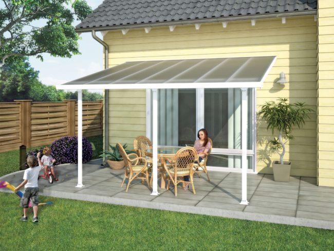 Produktbilde - Terrassetak - 3x4,25meter - hvit - PALRAM Applications