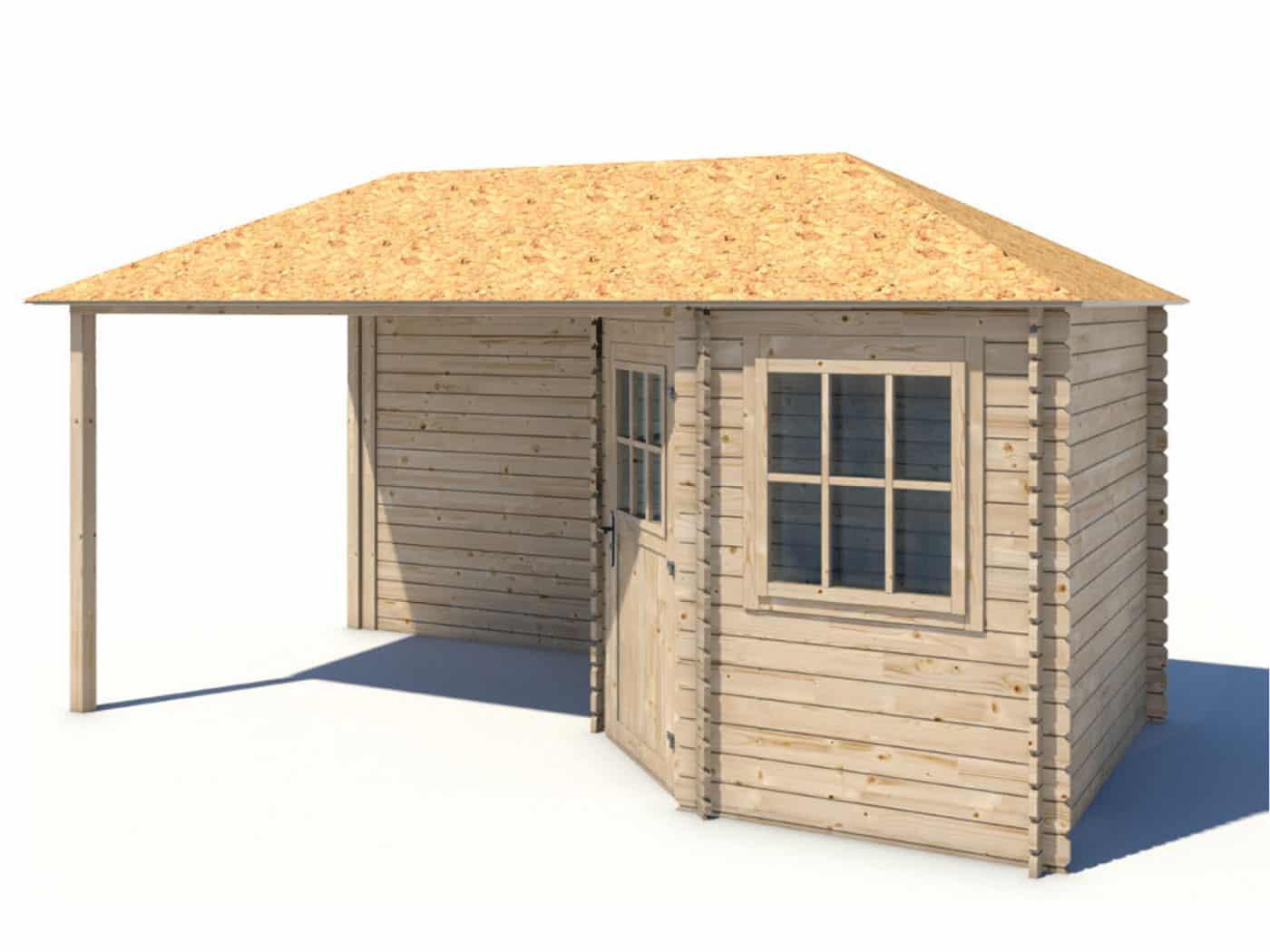 Produktbilde - Eline - Hagehus med takoverbygg -480x240cm