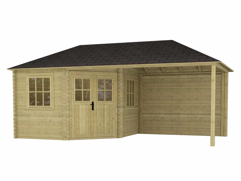 Produktbilde - Eline - Hagehus med takoverbygg -600x300cm