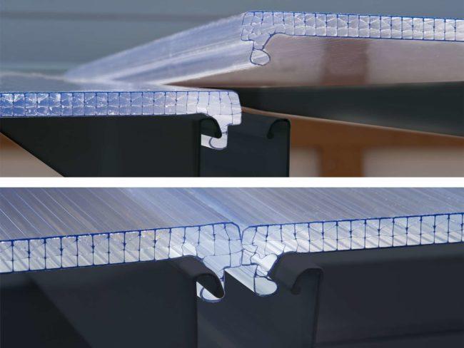 Klikk og lås takplater - Palram terrassetak - Grå