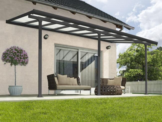 Produktbilde - Terrassetak - 3x5,46 meter - grå - PALRAM Applications