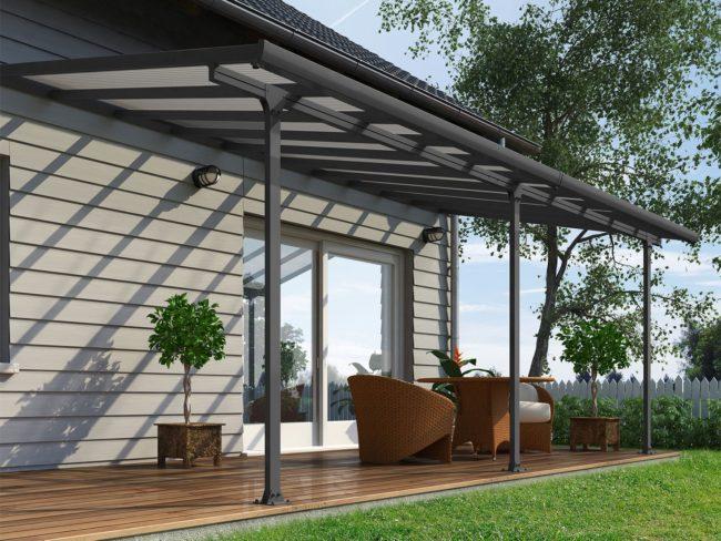 Produktbilde - Terrassetak - 3x6,10 meter - grå - PALRAM Applications