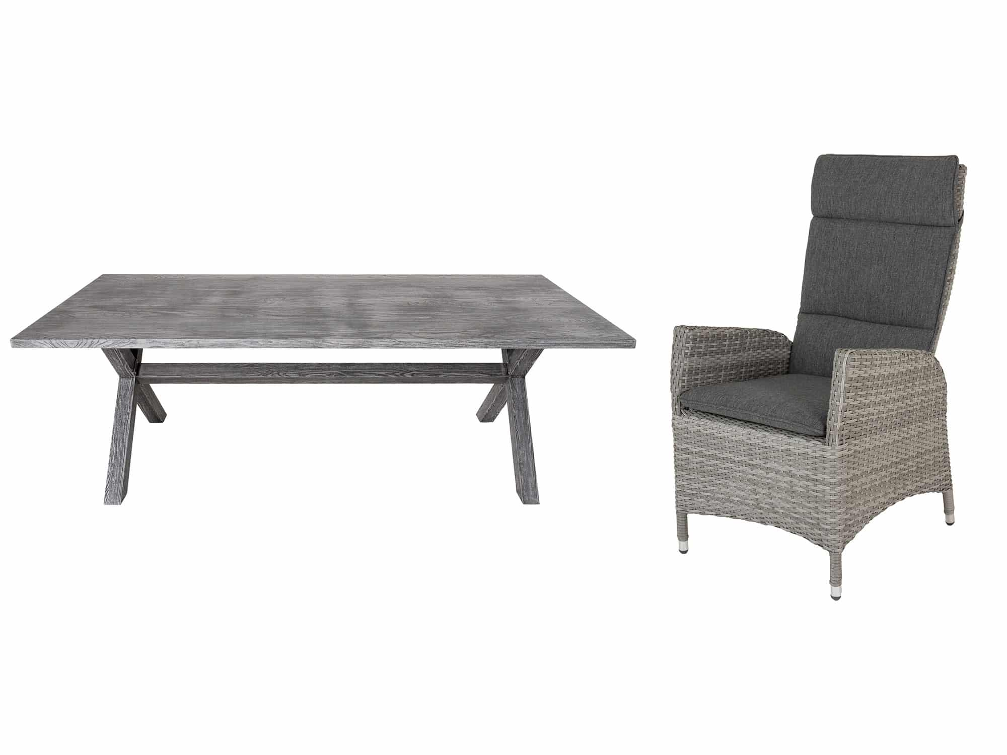 Produktbilde - Alta-Helena Komplett hagesett med spisebord og 6 stoler - Hartman Nordic