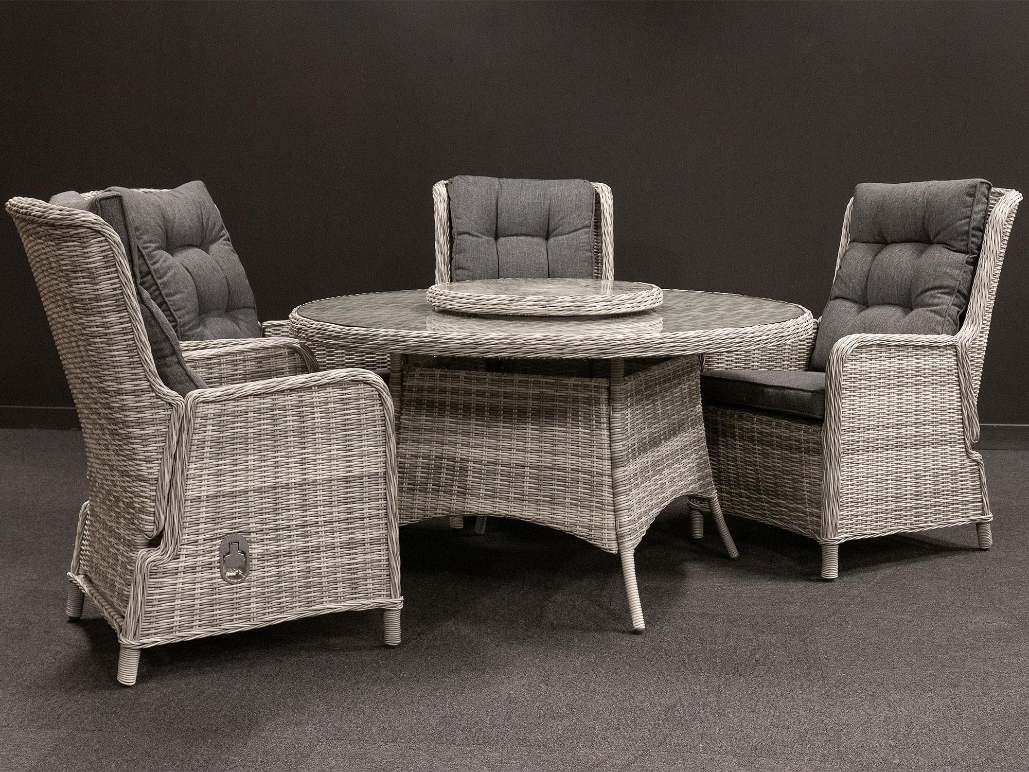 Produktbilde - Amalie hagesett med 4 stoler og spisebord - Hartman Nordic