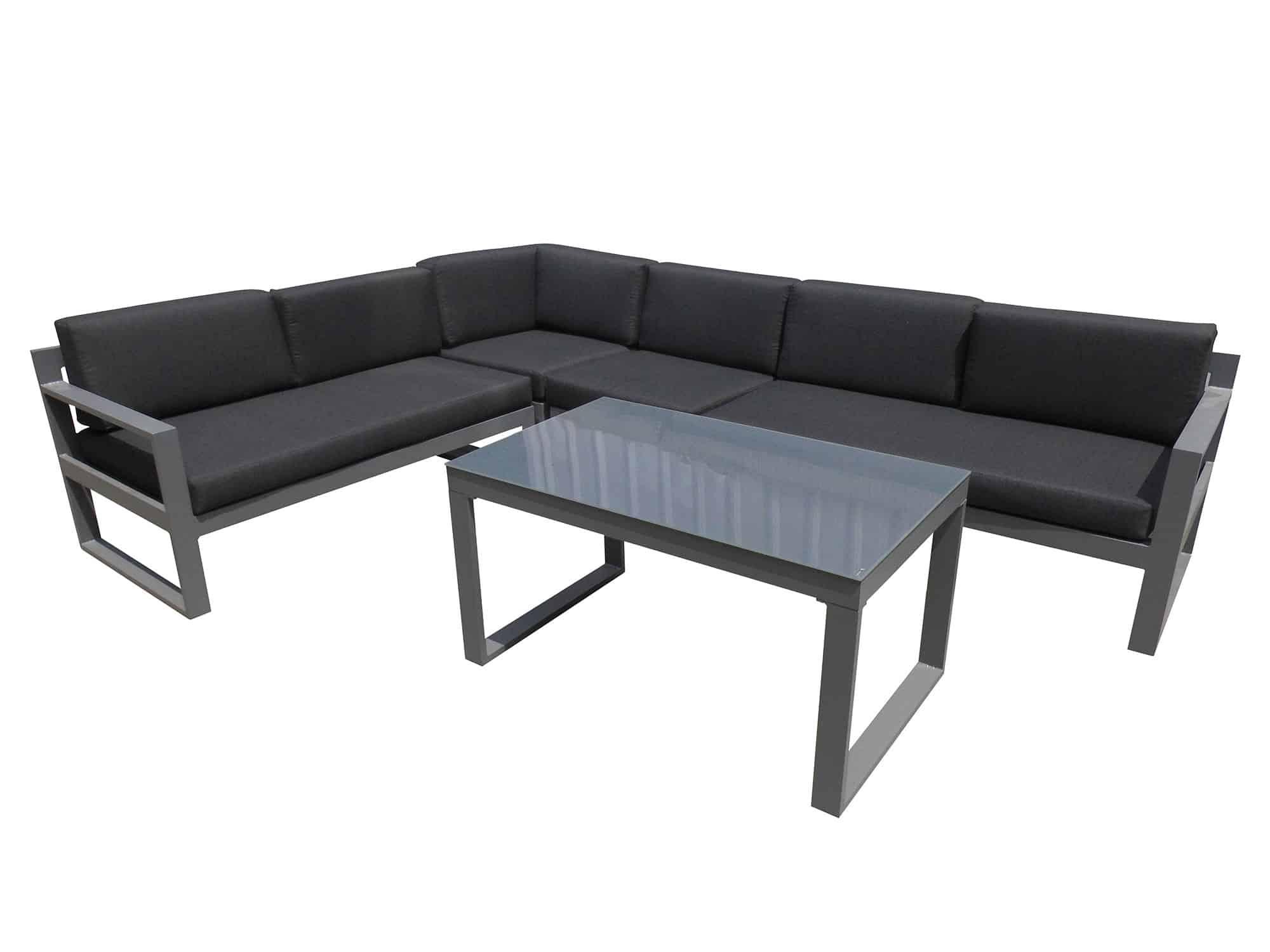 Produktbilde - Belize hjørnegruppe med bord - grå - Hartman Nordic