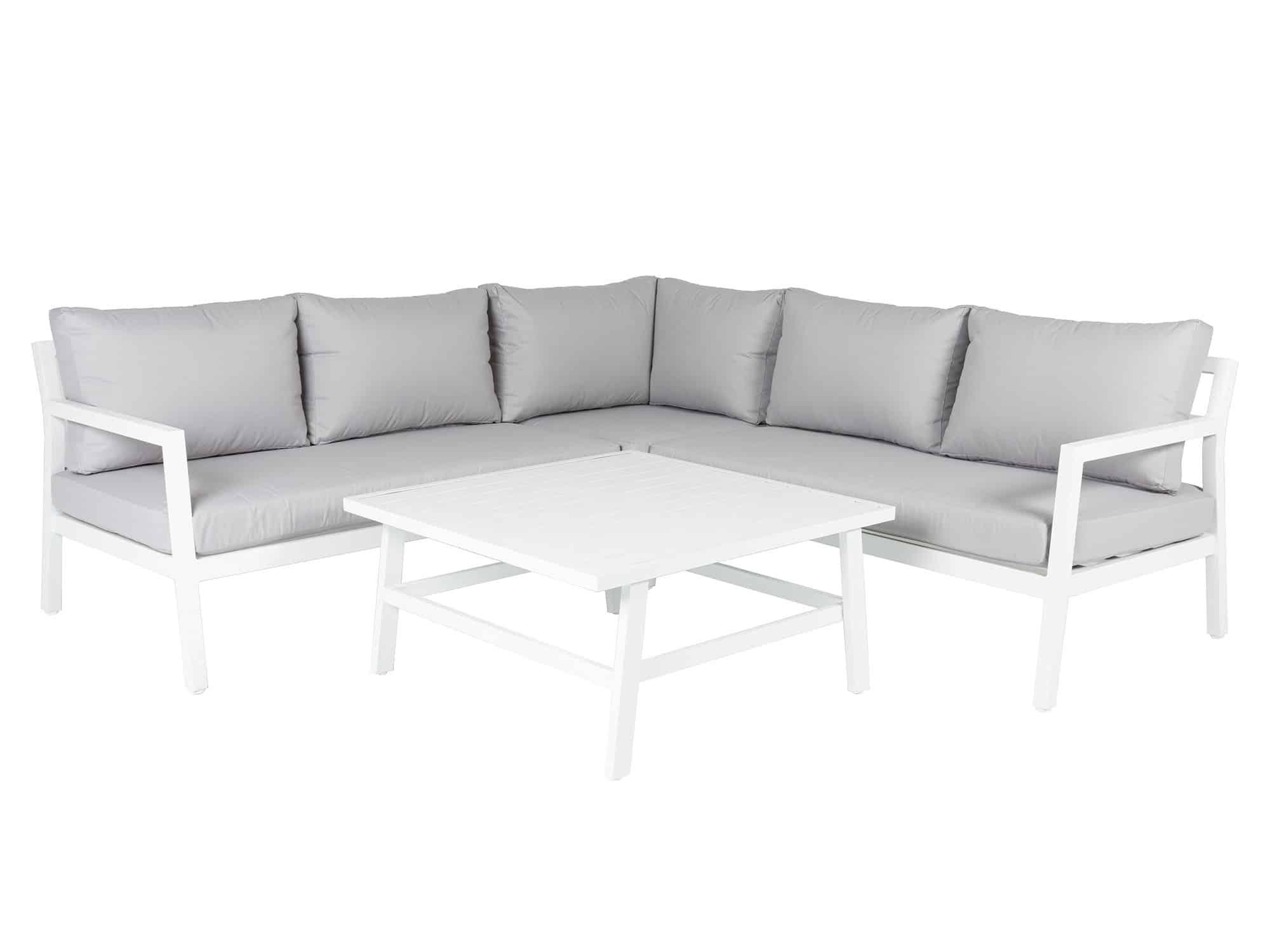 Produktbilde - Coventry hjørnegruppe med bord - hvit - hartman nordic