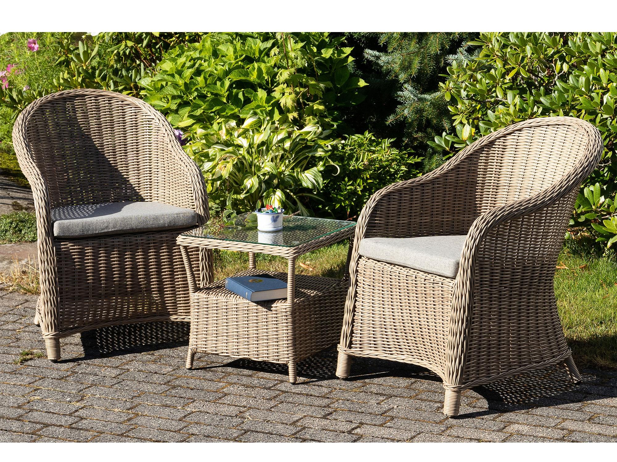 Produktbilde - Høvik terrassesett med 2 stoler og sidebord - Hartman Nordic