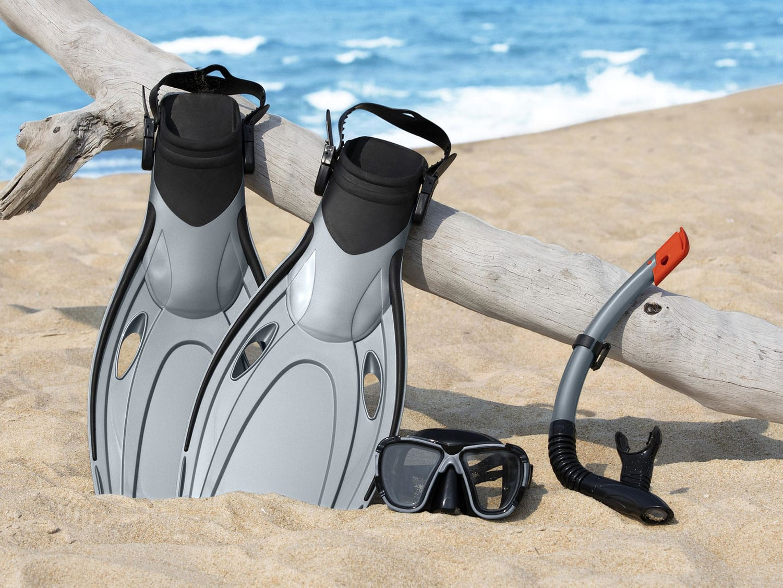 Produktbilde - Snorkelsett med dykkermaske snorkel og svømmeføtter - Bestway