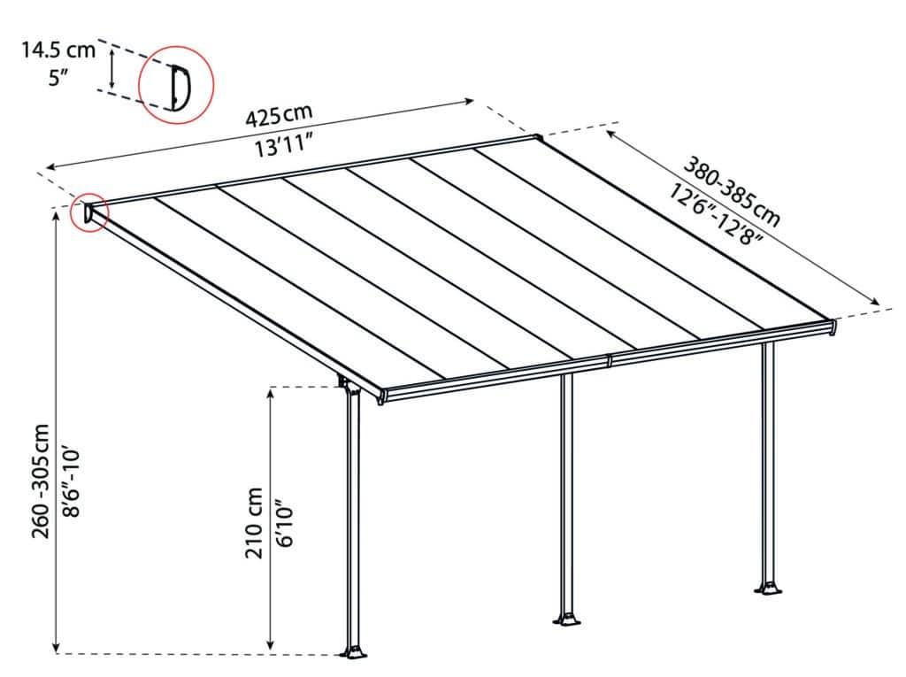 Målsatt tegning, FERIA™ 4x4,25 meter