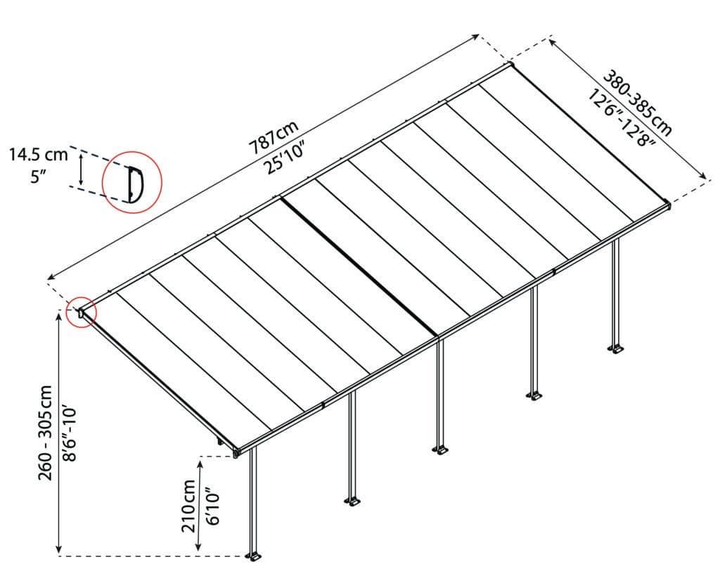 Målsatt tegning, FERIA™ 4x7,87 meter
