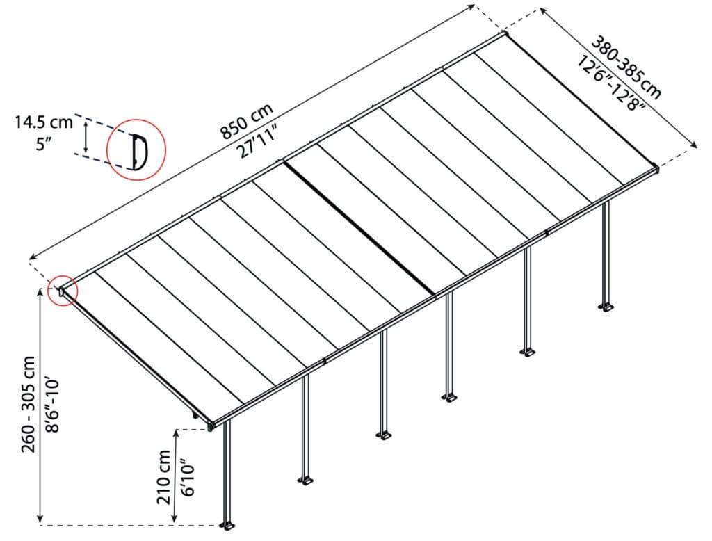 Målsatt tegning, FERIA™ 4x8,50 meter