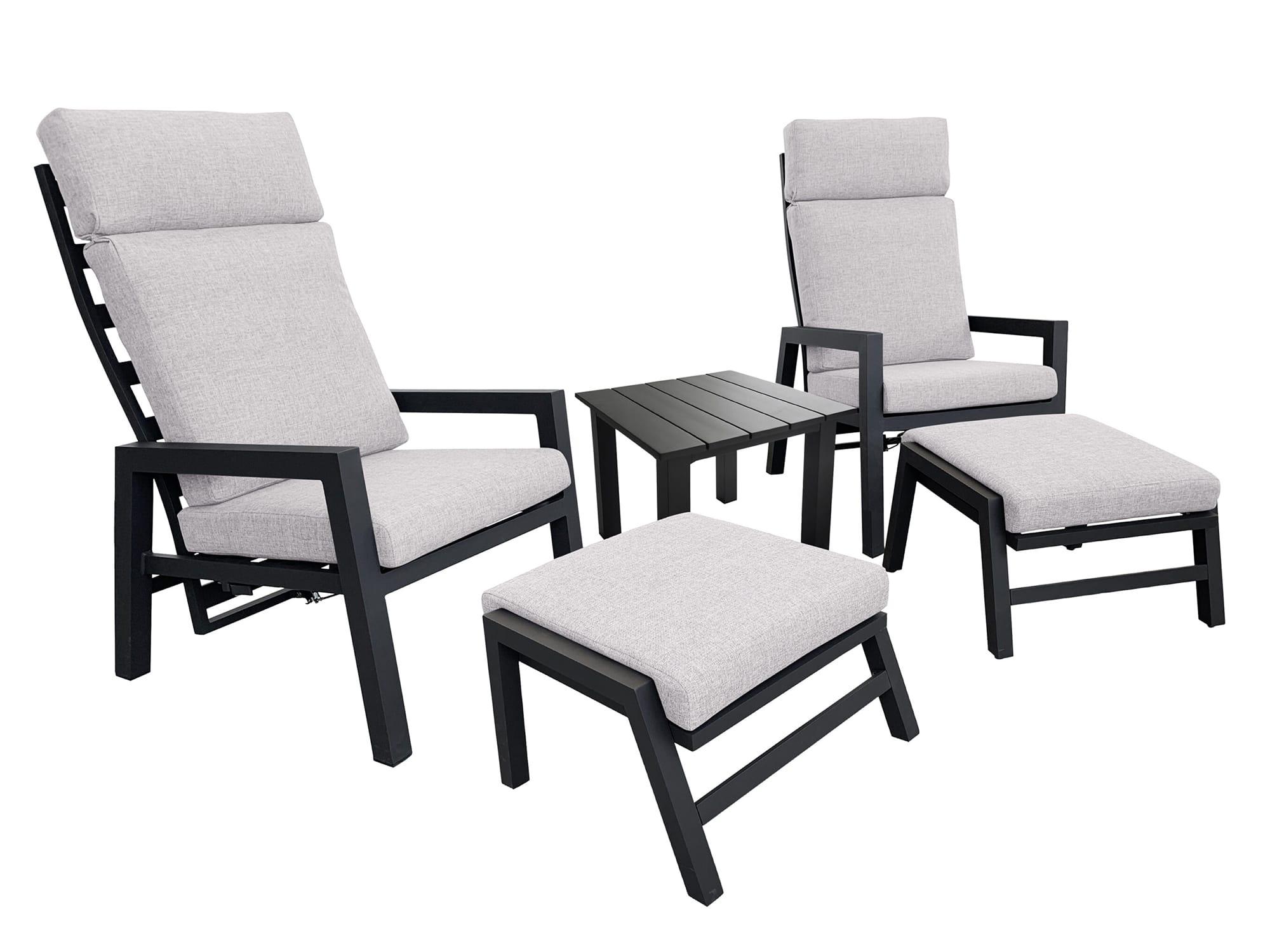 Bilde av Winchester reclinersett, to stoler, fothvilere og sidebord